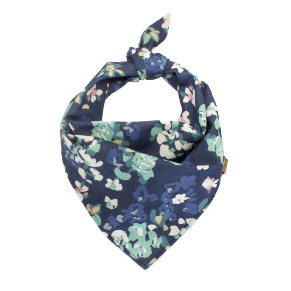 Denim Floral Dog Bandana