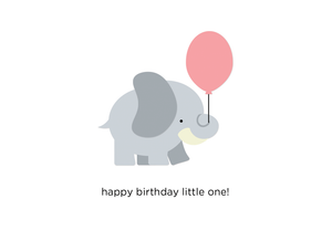 Happy Birthday Little One Card