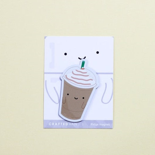 Iced Coffee Fridge Magnet