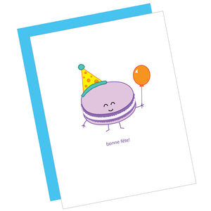 French Macaron Birthday Card
