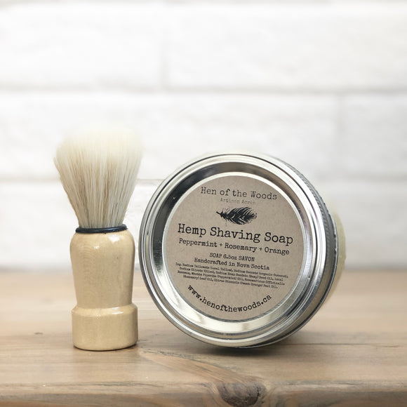 Hemp Shaving Soap + Shaving Brush Set