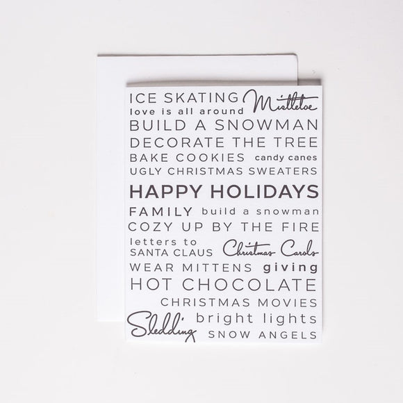 Holiday Activities Card