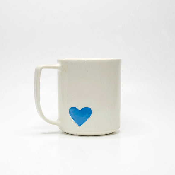 Handmade Ceramic Blue Heart Mug