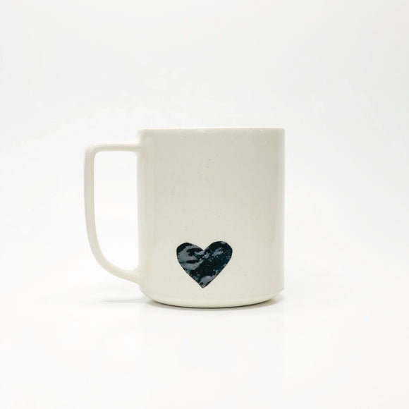 Handmade Ceramic Black Heart Mug
