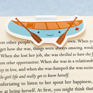 Little Blue Canoe Magnetic Bookmark