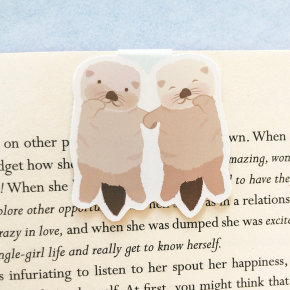 Otters Magnetic Bookmark
