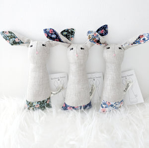 Heirloom Bunny Rattle - Floral