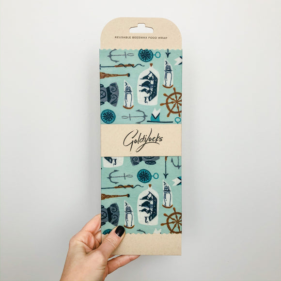 Nautical Beeswax Wrap - Single