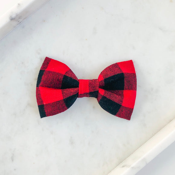 Buffalo Plaid Dog Bow Tie