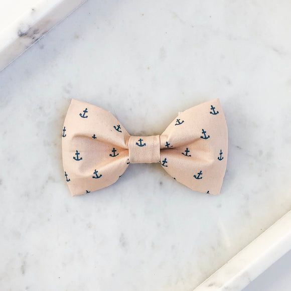 Blue Anchors Dog Bow Tie