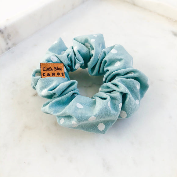 Teal Dot Scrunchie