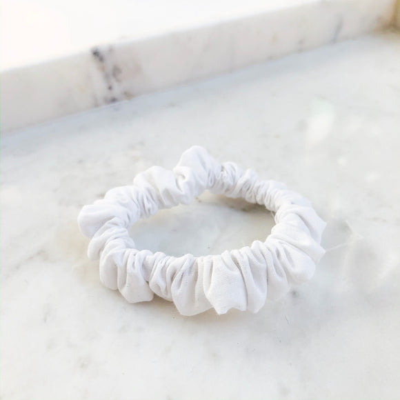 White Scrunchie Hair Tie