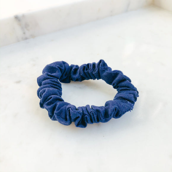 Navy Scrunchie Hair Tie