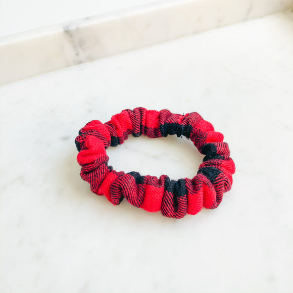 Buffalo Plaid Scrunchie Hair Tie