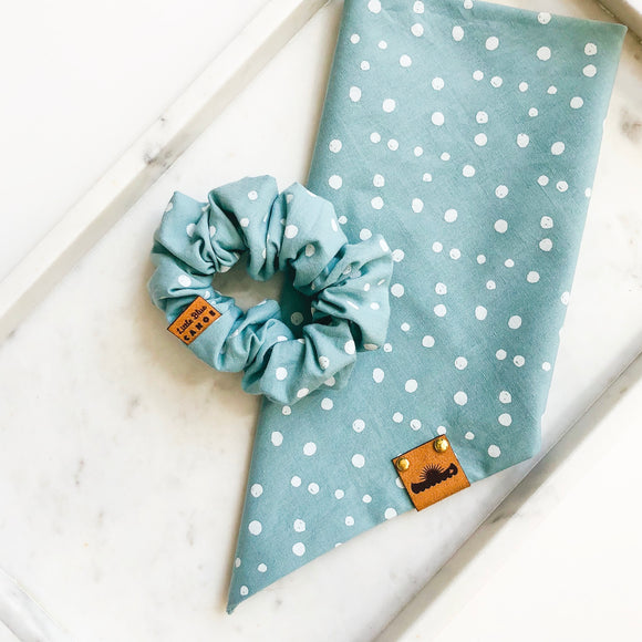 Teal Dot Bandana Bestie Set