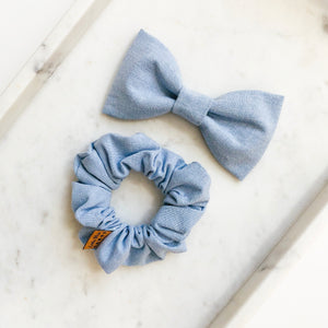 Light Chambray Bow Tie Bestie Set