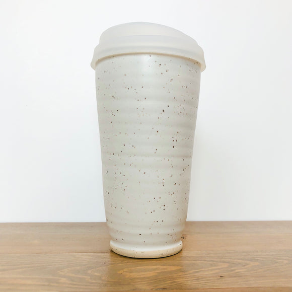 Speckled Cotton Travel Mug