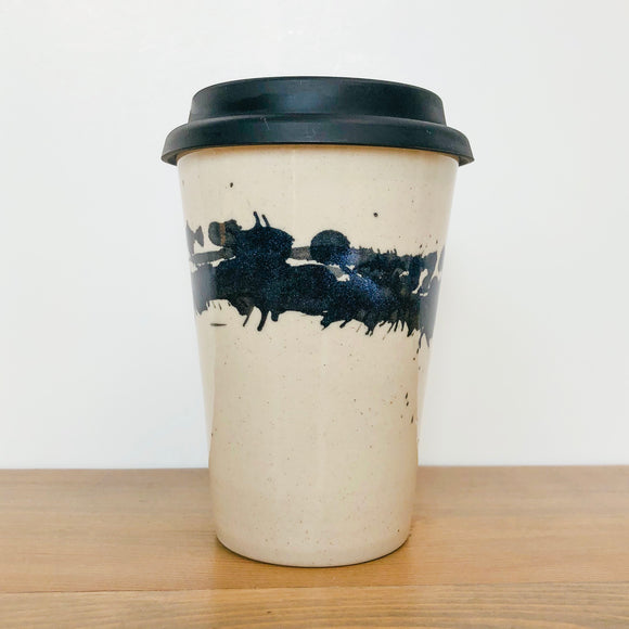 12oz Black Splash Traveller