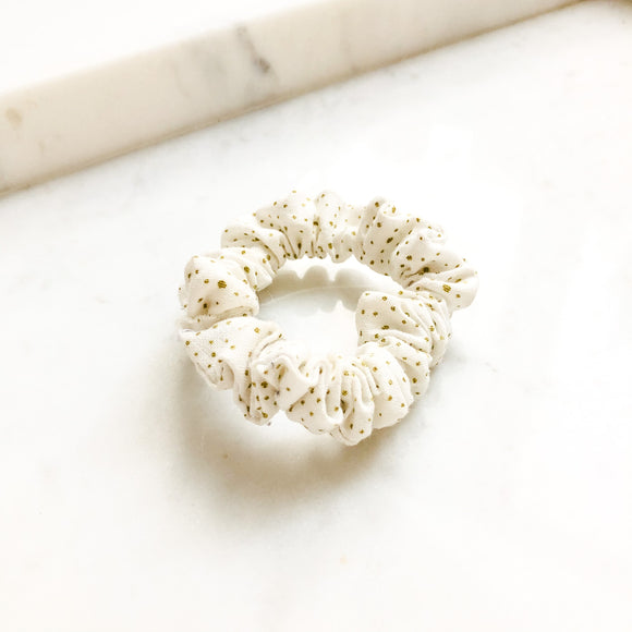 Gold Dots Scrunchie Hair Tie