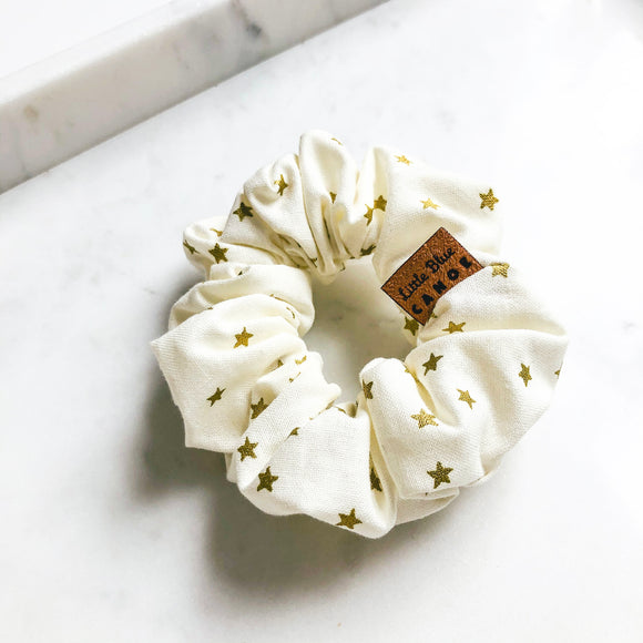 Gold Stars Scrunchie