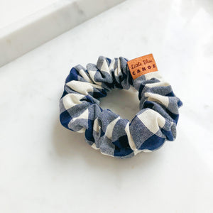 Navy Plaid Scrunchie