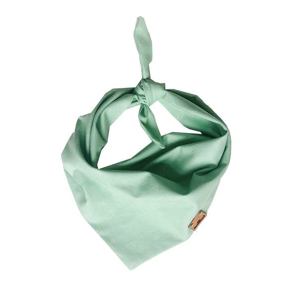 Mint Triangles Bandana