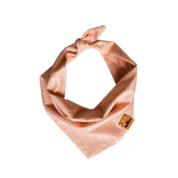Peach Chevrons Bandana
