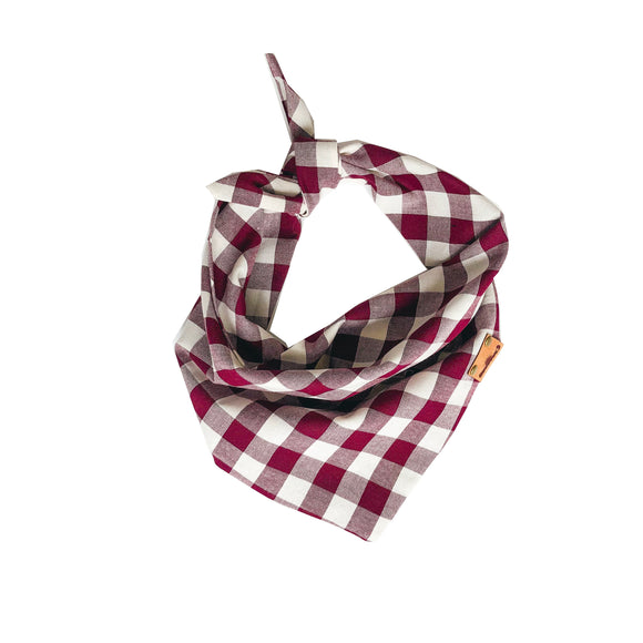 Burgundy Plaid Bandana