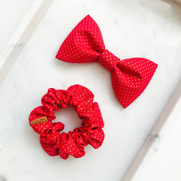 Holiday Dots Bow Tie Bestie Set
