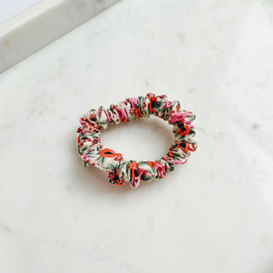 Coral Floral Rifle Paper Co Scrunchie Hair Tie