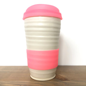 Pink Cotton Travel Mug