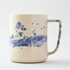 Handmade Ceramic Blue Splash Mug