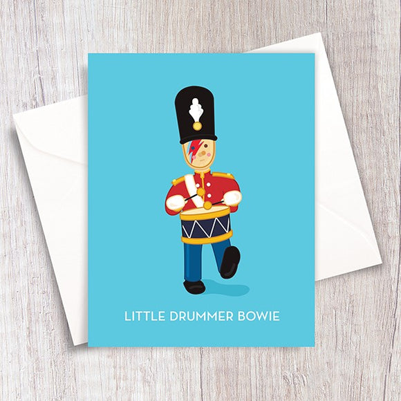 Little Drummer Bowie Card