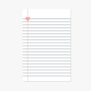 Heart-Centered Magnetic Notepad