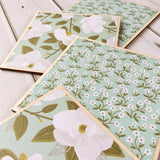 Mint Green Floral Coasters