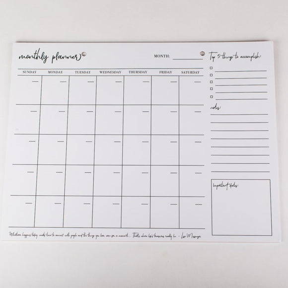 Start Your Own Date Monthly Planner