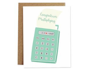 Congrats On Multiplying Card
