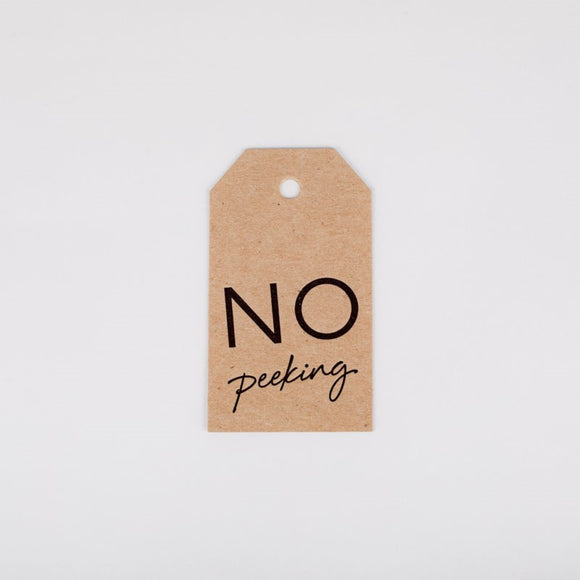 No Peeking Gift Tag