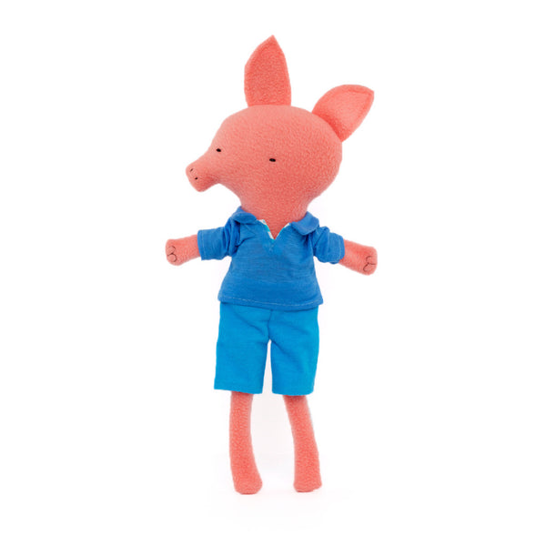 Long-legged Pig in a Blue Shirt