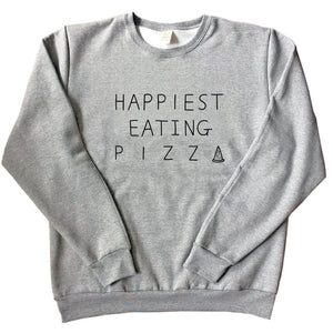Happiest Eating Pizza - Unisex Adult Sweatshirt