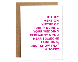 Virtue + Purity Wedding Card