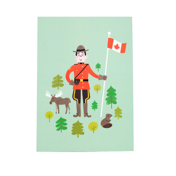 Mountie Postcard