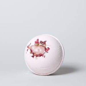 Rose Quartz + Ho Wood Crystal Bath Bomb