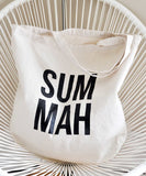 SUMMAH Cotton Tote Bag