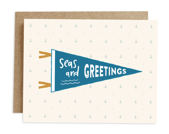 Seas + Greetings Card