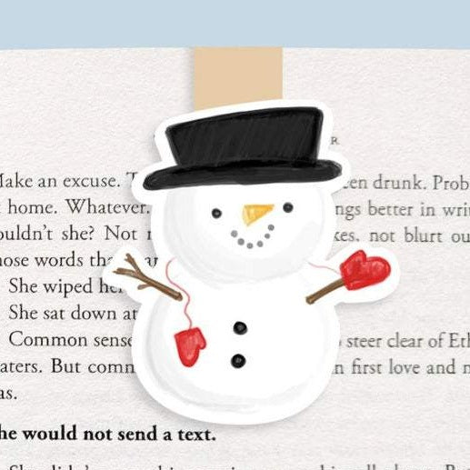 Snowman Magnetic Bookmark