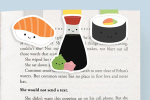 Sushi Mini Magnetic Bookmarks