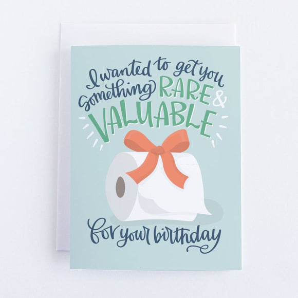 Rare + Valuable Toilet Paper Birthday Card