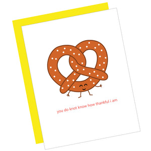 Pretzel Thank You Card