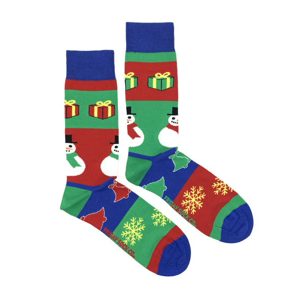 Snowman Ugly Christmas Socks